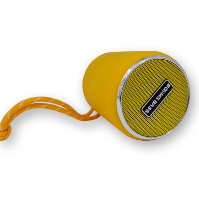 اسپیکر بلوتوثی قابل حمل بومزباس مدل L3 زرد