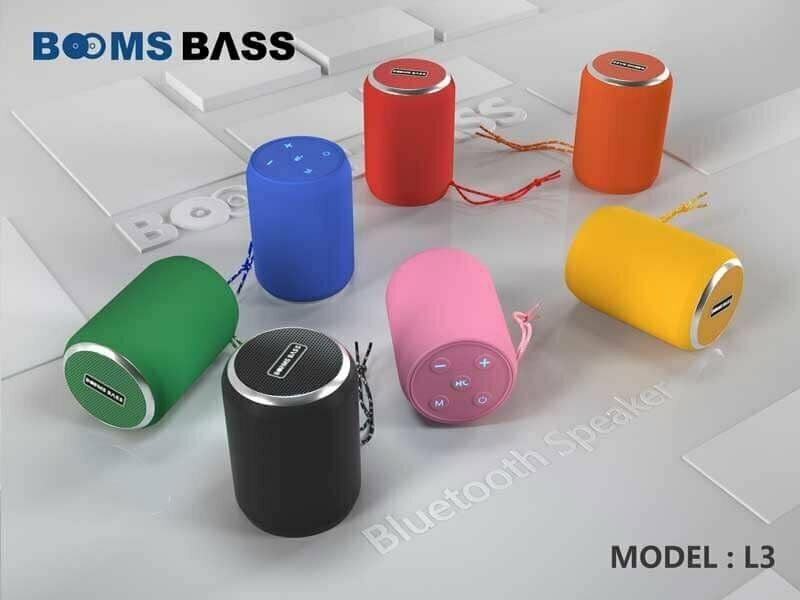 طراحی اسپیکر بلوتوثی Booms Bass مدل B-L3